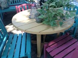 painted wooden patio furniture duck egg blue outdoor wood paint designs painting old wooden garden furniture
