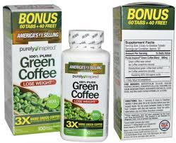 purely inspired green coffee 800 mg 100 tablets bakar lemak