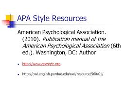 american phsycological association publication manual of the american psychological association