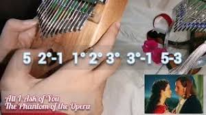 The kalimba, also known as thumb piano, is a musical instrument that originated in africa. All I Ask Of You Phantom Of The Opera Kalimba Cover And Tutorial Youtube