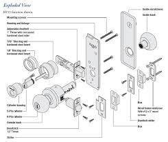 schlage commercial locks. Wonderful Schlage Schlage H Series Exploded View With Commercial Locks R