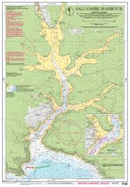 Salcombe Harbour Chart Laminated Y44 Salcombe Harbour Imray Chart