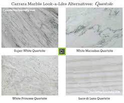 marble looking granite. Plain Granite Four Quartzite Countertop Colors That Look Like Carrara Marble Collage And Marble Looking Granite H
