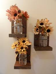 Country Home Accents And Decor Mason Jars Wall Hanging DecorCountry DecorWall HangingSconce 91