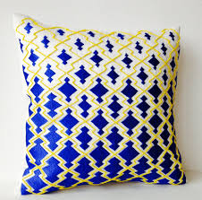 royal blue decorative pillows. Delighful Decorative Royal Blue Decorative Pillowcase Thread Beads Sashiko Embroidery Throw  Pillows And
