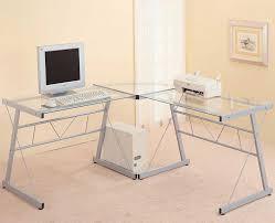 glass corner desk l shapes