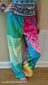 Make Pants Diy Towel Pants A Great Cover Up For The Beach Or Pool