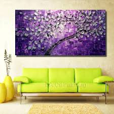 free big size wall art tree oil painting on canvas for home decor ideas paints