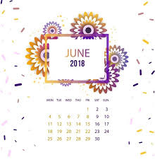 Schedule Table Maker Floral June 2018 Calendar For Office Table Calendar 2018