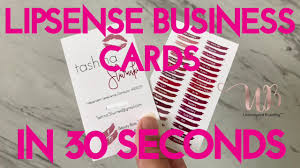 Lipsense Business Cards In 30 Seconds Youtube