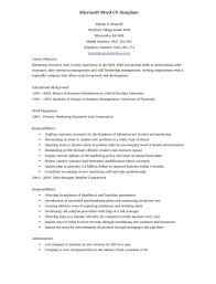Resume Templates Free Download For Microsoft Word Resume Examples