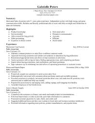 examples of work resumes