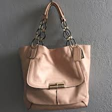 COACH Kristin Elevated Tote - Pink Ivory