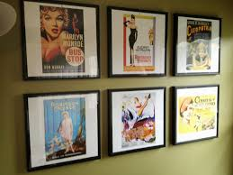 A note about this project ::: the images were taken from an old calendar of  vintage movie posters. Great way to recycle! We used frames from Ikea that  are ...