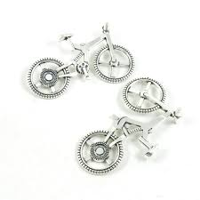 130 pieces antique silver tone jewelry making charms pendant findings craft supplies bulk lots arts n1ts4 bike bicycle