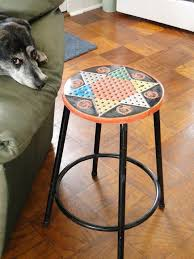bits and pieces furniture. simple and vintage tin chinese checkers gameboardrepurposed into a oneof with bits and pieces furniture