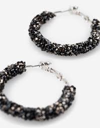 <b>Чёрные серьги</b>-<b>кольца</b> с бисером GJW007626-1 купить по цене ...