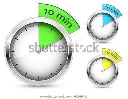 Set 10 Minutes Timer Vector Illustration Stock Vector