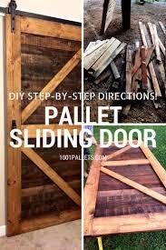 pallet ideas for walls. stylish rustic sliding pallet interior door ideas for walls g