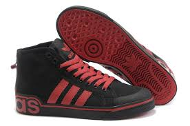 adidas shoes high tops red and black. adidas 365-day return easy travel originals ad228 top canvas casual shoes mens black red high tops and e
