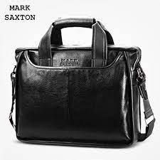 MARK SAXTON Guarantee Natural Genuine Leather Bag Handbag Famous Brand  Designer Soft Cowskin Casual Business Men Briefcases Bags    - AliExpress