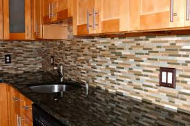 Granite Tiles For Kitchen Kitchen Handsome Kitchen Design Ideas With Brown Glass Tile