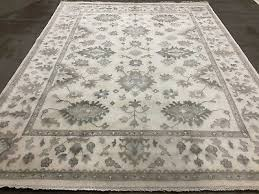 8x10 neutral hand knotted wool rug new oushak rugs oriental muted gray cream