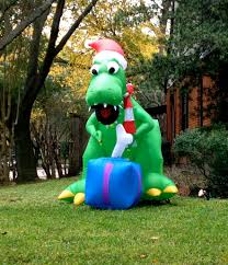 Dinosaur Lawn Decorations Doin Christmas Its So Past Philosopher Mouse Of The Hedge