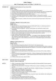 Product Manager Data Resume Samples | Velvet Jobs