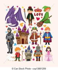 Elements Of A Fairy Tale Set Of Fairy Tale Element Icons