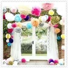 Crepe Paper Flower Balls Crepe Paper Wedding Decorations Rakiavenue Com