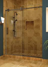 oil rubbed bronze bathtub doors frameless sliding shower door