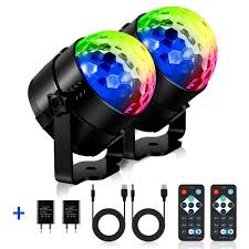 Disco Lights Big W 2 Pack Disco Party Lights 5w Led Strobe Light Rotating Sound Activated Disco Lamp Dj Stage Lighting With Remote Control 7 Color For Gift Kids Birthday