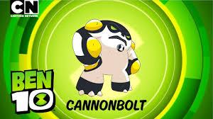 ben 10 aliens in action cannonbolt cartoon network