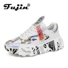 <b>Fujin Women</b> Vulcanized <b>Shoes</b> Summer Tape Sneaker <b>2019</b> ...