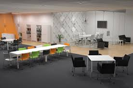 inspiring office spaces. AxisTableCollaboration_Layout Workstation Design: 5 Inspiring Office Layout Examples Future Of Work Spaces