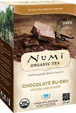 <b>Chocolate Pu</b>'<b>erh</b> by Numi <b>Tea</b>, 4-5min.... <b>Organic</b> black <b>pu</b>-<b>erh tea</b> ...