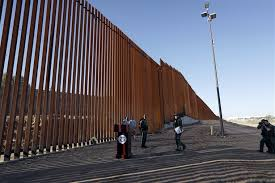 dhs chief marks first section of trump s border wall but it kinda looks like a fence