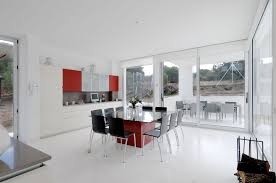 dining room great concept glass dining table. Furniture. Square Glass Dining Table Top On Red Glossy Base And Black Chairs With Chrome Room Great Concept