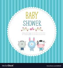 Baby Shower Invitation Cards Baby Shower Invitation Card Template On Blue
