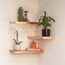 copper floating shelf