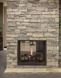heatnglo escape 42in see thru zero clearance fireplace natural stone veneer is table rock stones riviera cruz natural stone veneer