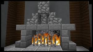 Minecraft Furniture  Fireplaces  Rustic Fireplace With MantleFireplace In Minecraft
