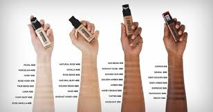Foundation Color Match Chart