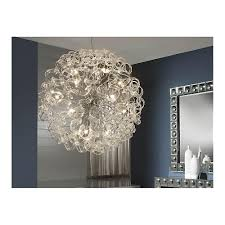 Modern Chrome Pendant Light Schuller Modern Chrome Hanging Crystal Ceiling Light Pendant