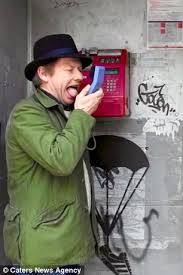 Traveller Ian Wright scrapes his tongue along Europe