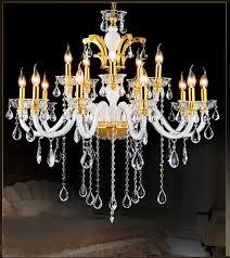 creative of gold chandelier light 12 lights crystal chandelier living room lighting china gold