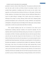 essay on patient safety