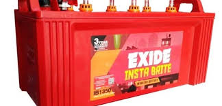 Exide Battery Application Chart 2019
