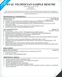 Hvac Technician Resume Installer Resumes Sample Examples Experience